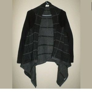 S RD Style Open Front Windowpane Cardigan